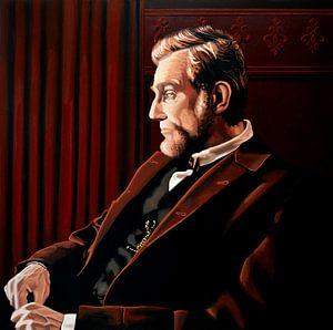 Daniel Day Lewis als Abraham Lincoln schilderij