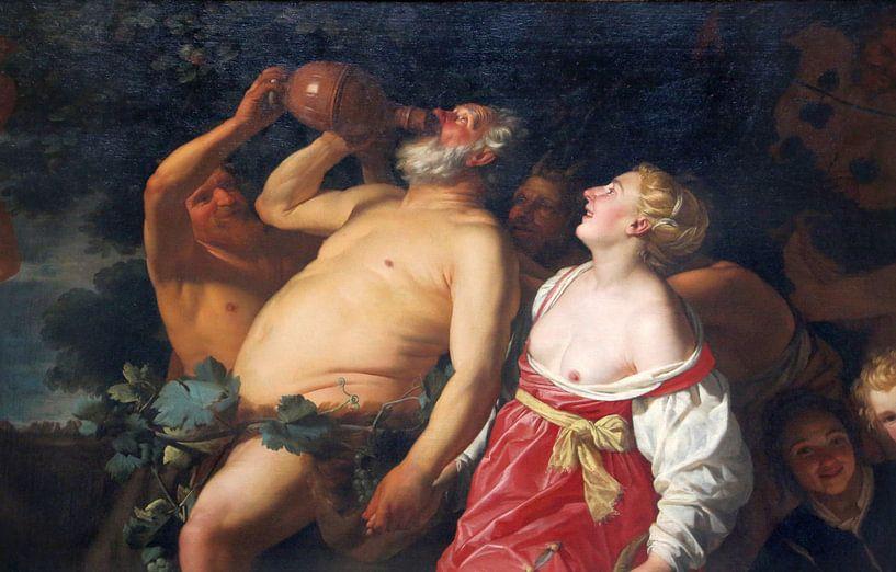 Triumph des Silenus - Gerard van honthorst, um 1623-30 von Atelier Liesjes