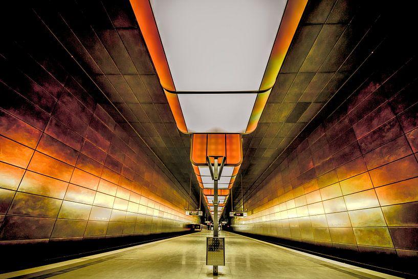 U-Bahnstation, Hamburg von Holger Debek