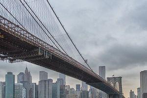 Brooklyn Bridge van Aad Clemens