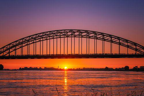 Vier Tage Marsch Nijmegen Waal Brücke von Sander Peters Fotografie