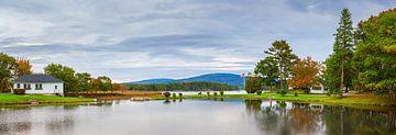 Panaroma van Somesville, Maine van Henk Meijer Photography