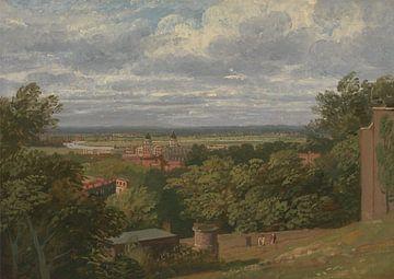 Thomas Christopher Hoffland~Greenwich Hospital vom Observatorium mit Fernblick auf London