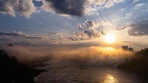 Zonsopgang bij de Niagara watervallen