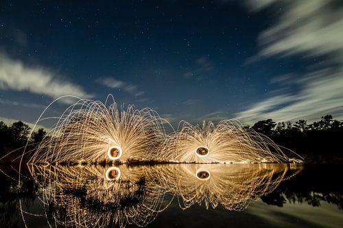 Lightpainting 6 van Eugene Klinkenberg