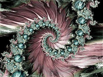 Bloemen Tuinspiralen 2 van Andree Jakobson