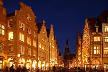 Prinzipalmarkt met St. Lambertuskerk van Torsten Krüger