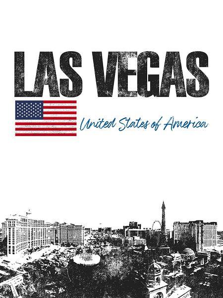 Las Vegas Amerika van Printed Artings