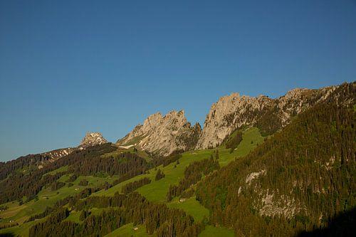 Gastlosen Alpenkette in der Schweiz Sommer