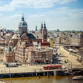 Amsterdam skyline van Marco Knies