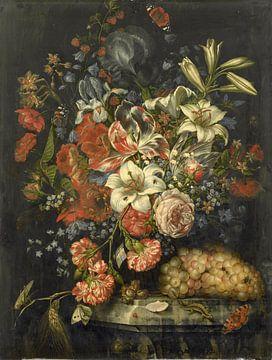 Stilleven met bloemen en vruchten, Ottmar Elliger (I) sur
