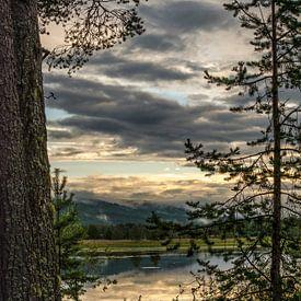 Meer in Idre, regio Dalarna in Midden-Zweden.  van Margreet Frowijn