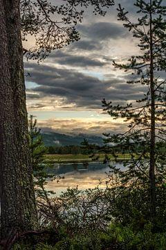 Meer in Idre, regio Dalarna in Midden-Zweden.  von Margreet Frowijn