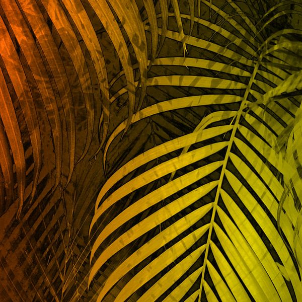 TROPICAL LEAVES GREEN MOCCA no4 van Pia Schneider