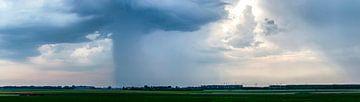 Onweer boven Flakkee van Frans Blok