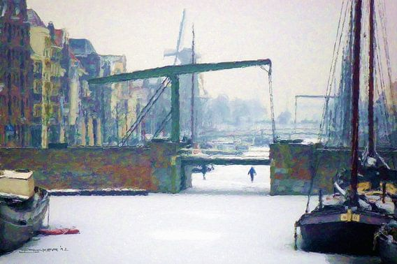 Twee bruggen van Frans Jonker