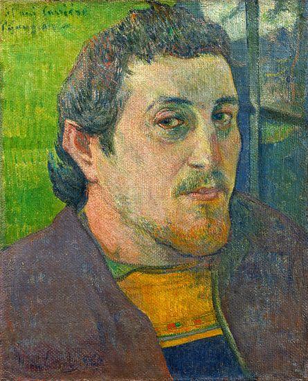 Zelfportret Opgedragen aan Carrière, Paul Gauguin