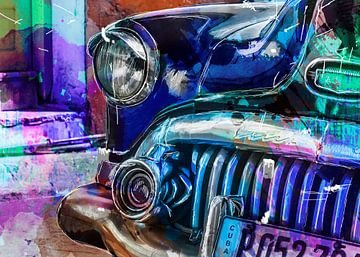 Oldtimer in Havana Cuba van AL Art