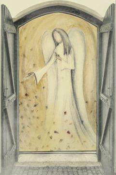 Fensterblick - Engel vor der Tür