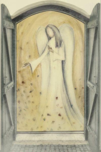 Fensterblick - Engel vor der Tür von Christine Nöhmeier