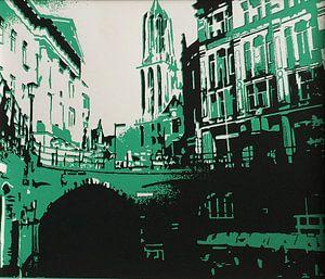 Utrecht Domtoren groen van