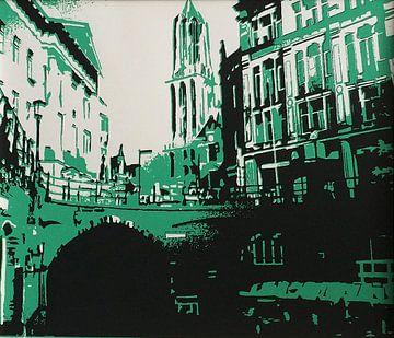 Utrecht Domtoren groen van Larissa Beentjes