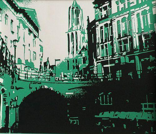 Utrecht Domtoren groen