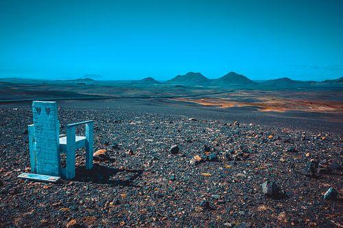 IJsland maanlandschap van Michiel van Druten