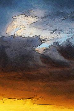 Zusammenfassung - Wettergeschichten - Der Wolf und der Fuchs von Schildersatelier van der Ven