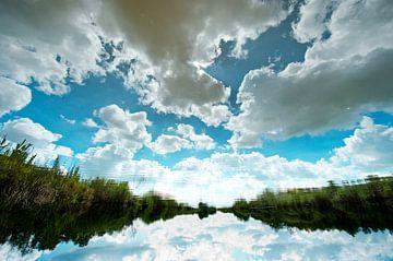 reflectie Nieuwkoopse plassen van Thomas Spaans