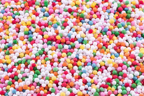 Vrolijke discodip bolletjes van