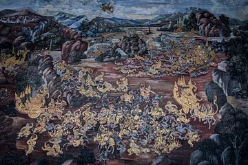 Goldenes Wandbild Thailand von Kim van Dijk