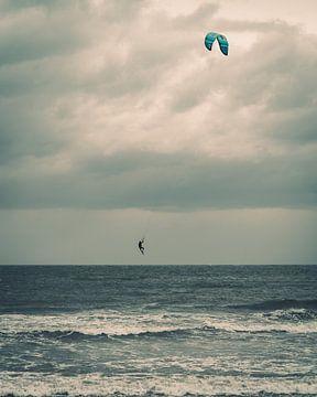 Kitesurfer au large de Norderney sur Steffen Peters