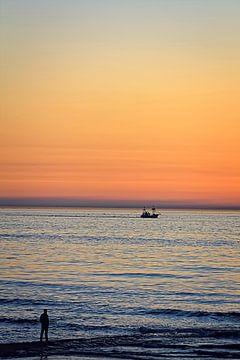 Magische uur aan de kust van