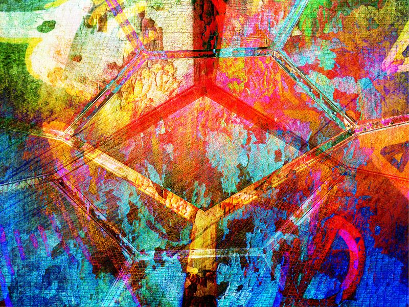 Modern, Abstract kunstwerk - Ground Control to Major Tom van Art By Dominic