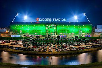 Kyocera Stadion, ADO Den Haag tijdens een wedstrijd van