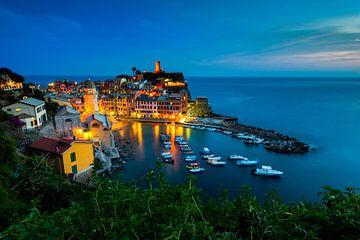 Cinque Terre in de avond van Damien Franscoise