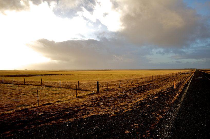 Iceland Landscape with road van Victor Van Rooij