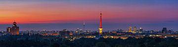 Berlin Skyline Panorama im Sonnenaufgang