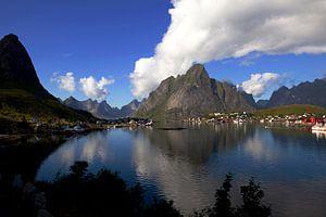 Vue de l'archipel des Lofoten en Norvège