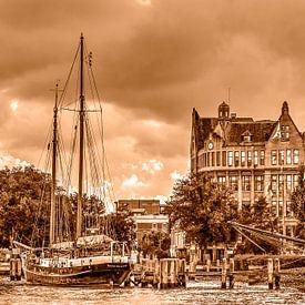 Fährhafen und Westkai von Frans Blok