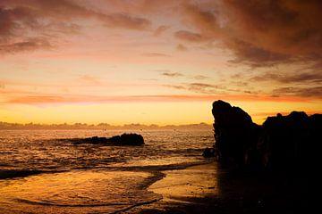 Zonsondergang aan Atlantische Oceaan, Madeira van Michel van Kooten