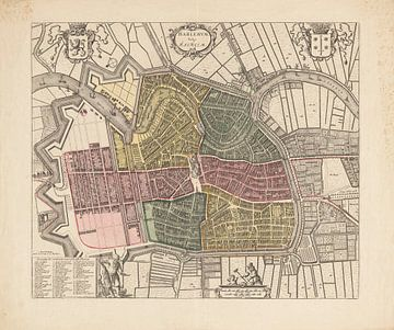 Plattegrond van Haarlem uit 1778