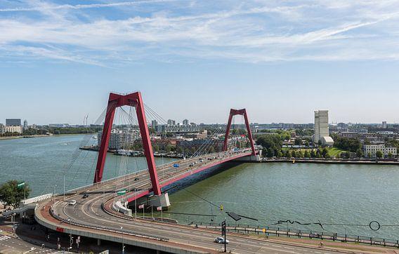 De Willemsbrug in Rotterdam van MS Fotografie