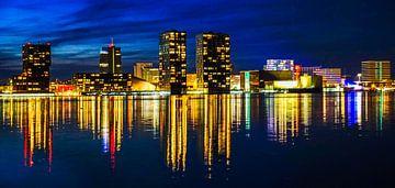 Skyline van Almere Stad van Arjan Schalken