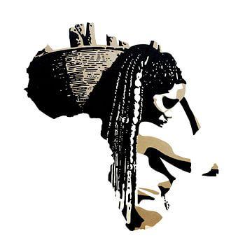 Afrika 1 van Irene Jonker