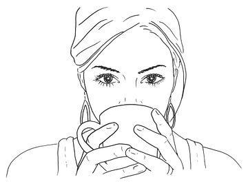 Lekker ontspannen met een kop koffie van Natalie Bruns