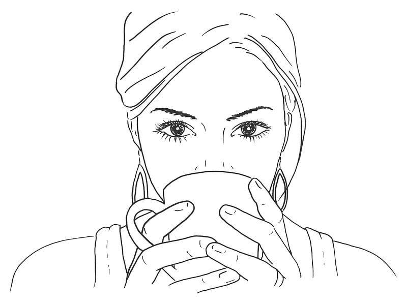 Entspannen bei einer Tasse Kaffee von Natalie Bruns