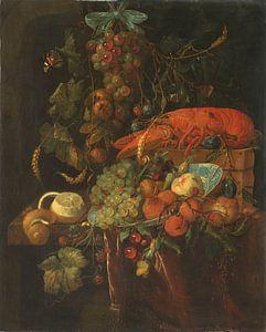 Stilleven met vruchten en een kreeft, Anoniem