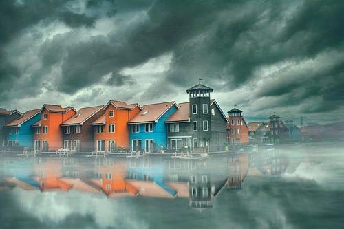 Het Reitdiep in Groningen. van Elianne van Turennout